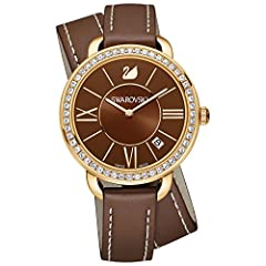 Idea Regalo - Orologio Donna Quarzo Swarovski display Analogico cinturino Pelle Marrone e quadrante Marrone 5160730