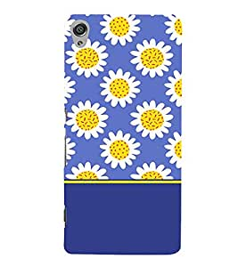 Fabcase blue floral design abstract design flowers Designer Back Case Cover for Sony Xperia XA :: Sony Xperia XA Dual