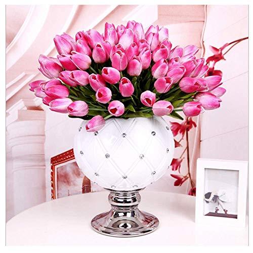StillCool Blume Mutterstag mit Blättern für Hochzeits-Blumenstrauß Dekoriere Kunstblumen in 7 Farben