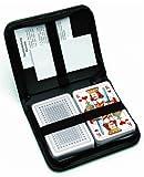 Nürnberger Spielkarten 06519981001 - Set da 2 mazzi di carte da ramino, classico, semi francesi, in astuccio di pelle