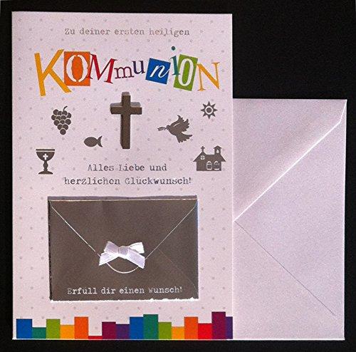 Glückwunschkarte Zu deiner ersten heiligen Kommunion Karte Geldgeschenk Grußkarte Kreuz