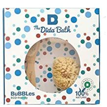 The Dida World Bath Bubbles - Esponja natural, cepillo de madera, toallita de algodón