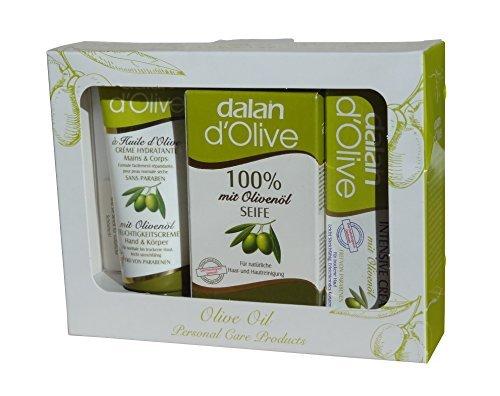 Dalan d'Olive Set 3 teilig, Karton, 150 g (Geschenk-set Hand Seife)