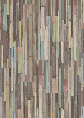 EGGER Home Laminat mehrfarbig bunt in Holzoptik - EHL008 Dimas Wood bunt (7mm, 2,481 m²/Pkt.) vielseitiger Laminatboden - pflegeleichter Allrounder