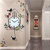 QWER Schaukel schmiedeeisen wanduhr Wohnzimmer Uhr stumm Uhr kreative Mode Wand hängen Uhr 36 * 72 cm