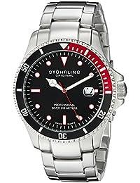 Stuhrling Original Regatta Elite - Reloj para hombre color negro / plata