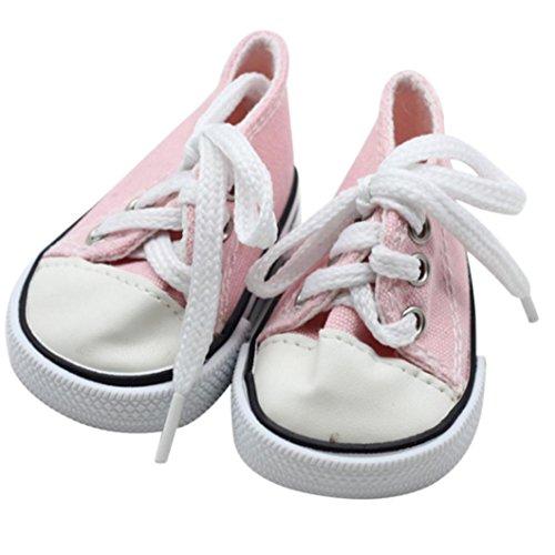 mingfa 45,7cm Puppe Schuhe Leinwand Lace Up Sneakers Puppe Zubehör für unsere Generation American Girl Boy Puppe
