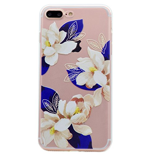 "Coque iPhone 7 Plus , IJIA Ultra-mince Transparent Beau Feuille TPU Doux Silicone Bumper Case Cover Shell Housse Etui pour Apple iPhone 7 Plus 5.5"" XX33"