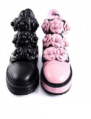 CU@EY Da donna-Stivaletti-Casual-Ballerine-Piatto-Di pelle / Pelle-Nero / Rosa black-us7.5 / eu38 / uk5.5 / cn38