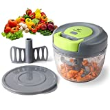 Magiclux Tech Mini 750ml Manual Food Chopper,...