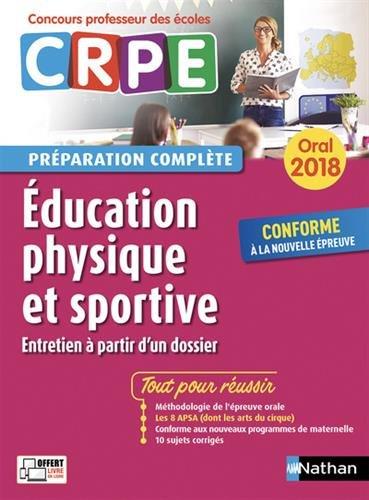 CRPE oral 2018. Education physique et sportive (entretien à partir d'un dossier)