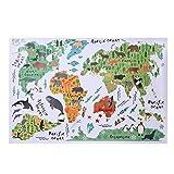 PVC wandaufkleber Tier Weltkarte Wandaufkleber für Kinderzimmer Schlafzimmer Hintergrund Home Decor DIY Poster Aufkleber LDCRE