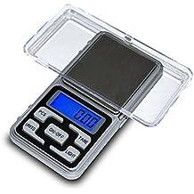 Balanza de Precision 0.01 gr 200 gr Bascula Digital Bolsillo Peso para Joyeria