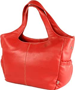 OiOi Tote Mod Leather Bag (Red)