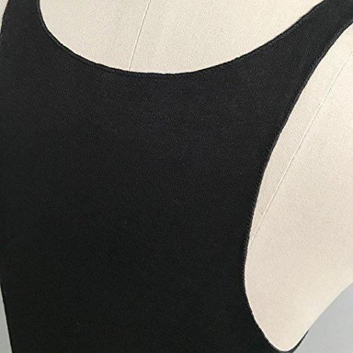 Femmes Débardeurs, IMJONO Femmes Mode Sexy Appliques à col en V Rose sans manches et camis Tops Blouse Noir