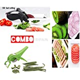 REDFAM Stainless Steel 2-in-1 Clever Cutter/Chopper/Slicer For Vegetables And Fruit (Black, REDFAM_KNIFE_0001)