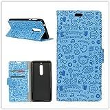 Funda® Capirotazo Billetera Funda para WIKO VIEW XL (Azul)