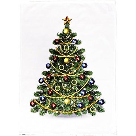 The Large Festive Christmas Tree Cotton Canovaccio by Half a (Babbo Canovaccio)