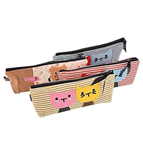 e Nette Muster Federmäppchen Große Kapazität Make-Up Tasche Kosmetische Federmäppchen Schreibwaren Aufbewahrungstasche Tasche Hohe Qualität ()