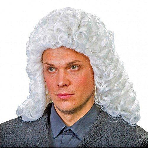 Perücke Richter weiß Lockenperücke Adliger Fasching Historische (Robe Richter Erwachsene Kostüme)