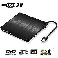 Grabadora Externa CD DVD Portátil Lector - PiAEK Unidad Quemador Drive Externo USB 3.0 Compatible con Win7/WIN8/WIN10/XP/Vista,Linux,Mac OS