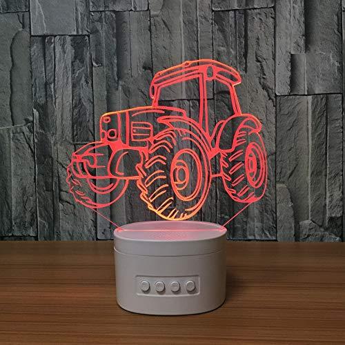 sanzangtang LED Nachtlicht-3D-sieben Farbe-Fernbedienung Bluetooth-Lautsprecher Acryl Stereo Stereo Licht Farbe Tischlampe Fernbedienung Licht dekoratives LichtNachtlicht
