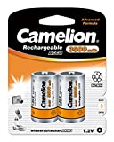Camelion 17035214 Akku (NiMH, Baby, R14 (C), 3500 mAh) 2er-Pack