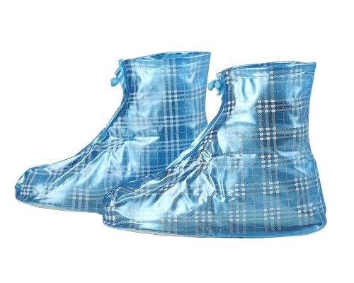 Plaid riutilizzabile spessa impermeabile protezione antiscivolo resistente all' usura donne uomini bambini ragazze scarpe (Plaid High Heel)