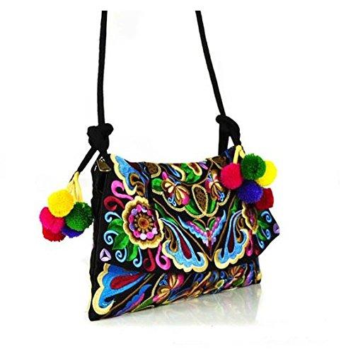 Panno floreale ricamo a mano–modelli Memorecool bellissimi fiori design multistrato ragazze regali data borse multi-color1 multi-color2