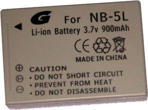 Bilora GPi 643Li-Ion Batterie pour Canon NB-5L