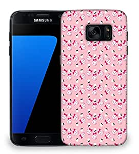 Snoogg cute aJNISkulls Designer Protective Back Case Cover For Samsung Galaxy S7