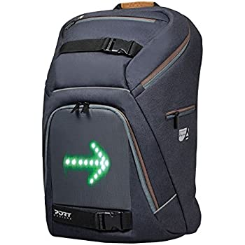 Port Designs GO LED Portable Travel Padded Cyclist/Bicycle Laptop Backpack/Rucksack Bag for 15.6 inch Windows/iPads/Apple Macbooks Laptops & Tablet Devices with Rain Cover Protection