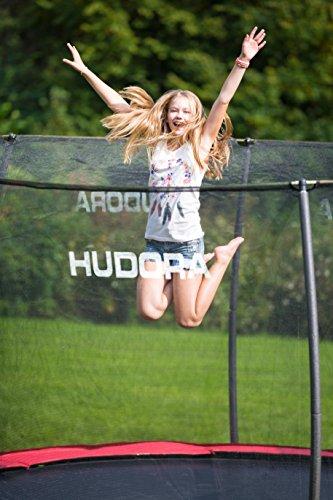HUDORA Trampolin Fantastic 400 cm – Gartentrampolin mit Sicherheitsnetz - 5