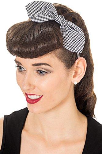Banned Side Bow Haarreifen schwarz/weiß