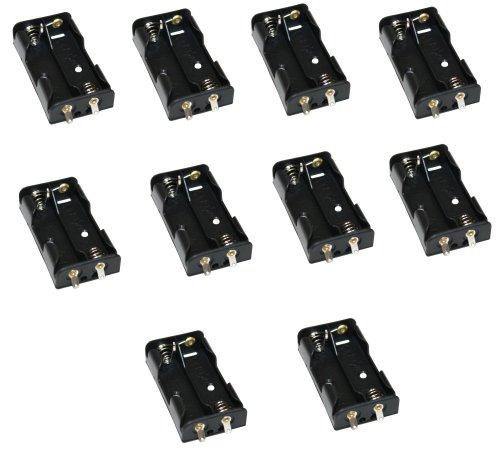 Preisvergleich Produktbild Aerzetix: 10 X Batteriehalter 2x AA LR6 für 2 Batterien oder Akkus Steckdose Rahmen