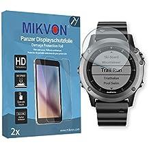 2x Mikvon Película blindada protección de pantalla Garmin Fenix 3 Protector de Pantalla - Embalaje y accesorios