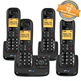 BT XD56 Quad Cordless Phones with Answering Machine and Nuisance Call Blocker (Renewed)