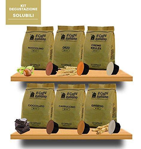 96 capsule compatibili Dolce Gusto - Kit degustazione Solubili - Il Caffè Italiano - FRHOME