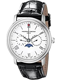 Frederique Constant fc270sw4p6–Wristwatch men's, Leather Strap Black