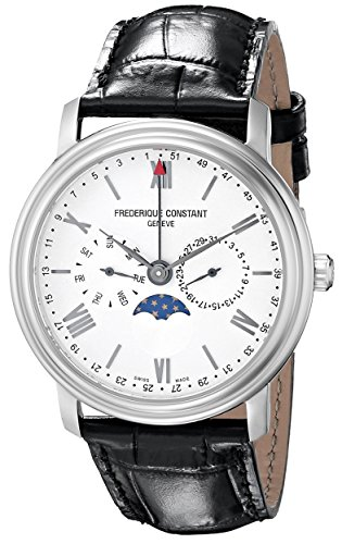 Frederique Constant Business Time FC270SW4P6 40mm Stainless Steel Case Black Calfskin Synthetic Sapphire Men's Watch