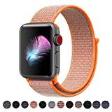 HILIMNY Für Apple Watch Armband 38MM, Ersatz für iwatch Armband Series 3, Series 2, Series 1 (Spicy Orange, 38MM)