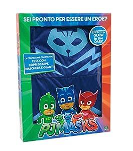 Giochi Preziosi-Super pigiamini PJ MASKS disfraz Carnaval gattoboy, talla 3/4años