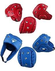 upantech Protector de cabeza de boxeo entrenamiento sparring Casco Kick Sports Head Protección Gear, azul