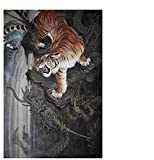 JinLzs Drago E Tigre Puzzle per Puzzle Puzzle in Legno Stile Cinese Rompicapo Giocattoli per Puzzle-1000 Pezzo,75X50 Cm