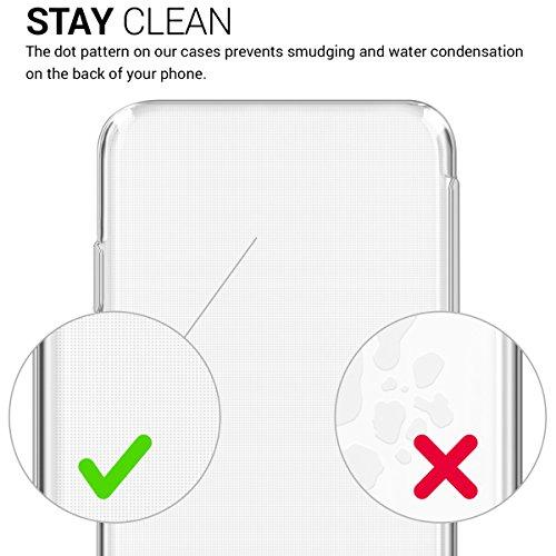 kwmobile Cover per Apple iPhone X - Custodia in silicone TPU - Back case protezione posteriore per cellulare rosso scuro metallizzato Mare di fiori cima bianco trasparente