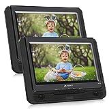 Pumpkin Lettore dvd portatile auto poggiatesta doppio schermo da 9 pollici con supporto per bambini, lunga durata da circa 5 ore, supporto usb/ sd/ mmc, region free