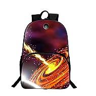 Univers Mode Unisexe Sac à dos Casual Sacs Bandoulière Galaxy 3D Peinture Textile Sac à dos Polyester Sacs à Dos Voyage a étudiant