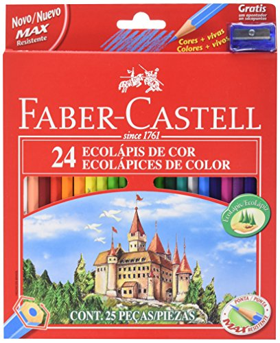 Faber-Castell 120124 – Pack de 24 lápices de color