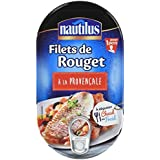 Nautilus Filets de Rouget à la Provence 190 g - Lot de 4
