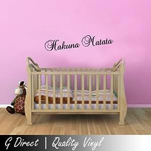 Hakuna Matata 60cm Lion King Childrens Wall Sticker Mural for kids bedroom Art
